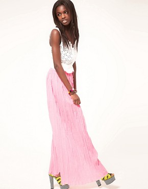 Image 1 ofASOS Maxi Skirt in Crinkle
