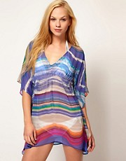 Echo Butterfly Top in Neon Stripe