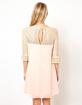 Image 2 ofLove Swing Dress With Lace Detail