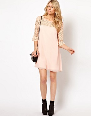 Image 4 ofLove Swing Dress With Lace Detail