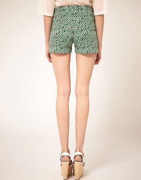 Image 2 ofSee by Chloe Printed Denim Shorts
