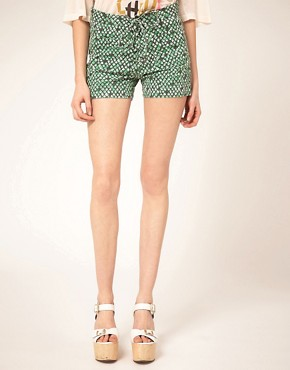 Image 4 ofSee by Chloe Printed Denim Shorts