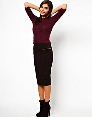 ASOS Pencil Skirt with Zip Detail
