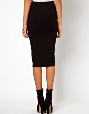 Image 2 ofASOS Pencil Skirt with Zip Detail