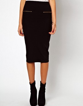 Image 4 ofASOS Pencil Skirt with Zip Detail