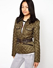 Vero Moda Quilted Jacket With Belt