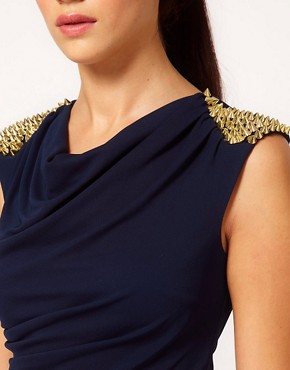 Image 3 ofRiver Island Stud Shoulder Drape Dress