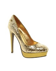 Blink Glitter Platform Heeled Shoe