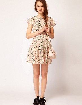 Image 4 ofDahlia Floral Forties Tea Dress