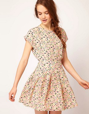 Image 1 ofDahlia Floral Forties Tea Dress