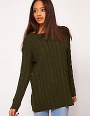 ASOS Aran Boyfriend Jumper