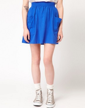 Image 4 ofAmerican Apparel Jersey Pocket Skirt