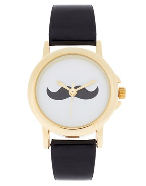 Image 1 ofASOS Moustache Face Watch