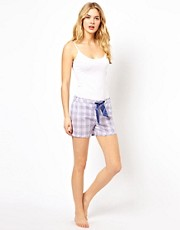 Pantalones de pijama cortos Glencheck de Esprit