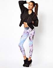 Motel Leggings In Cosmic Boogie Print