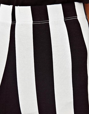 Image 3 ofASOS Leggings In Mono Stripe Print