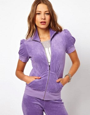 Image 1 ofJuicy Couture Puff Cap Sleeve Hoodie