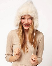 ASOS Faux Fur Trapper Hat With Contrast Pom