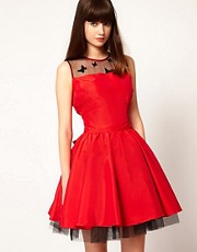 Nishe Prom Dress with Butterfly Mesh Detail