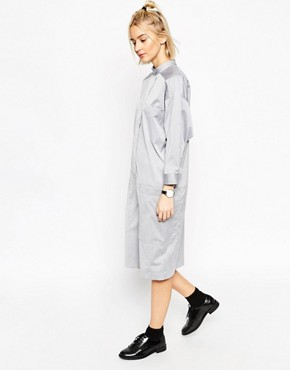 ASOS WHITE Batwing Placket Shirt Dress
