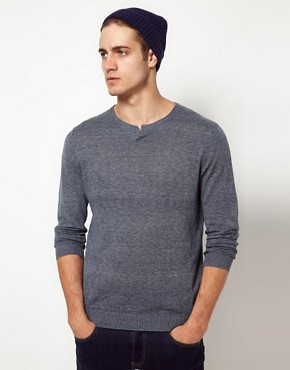 Image 1 ofASOS Notch Neck Jumper
