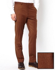 ASOS Slim Fit Suit Trouser in Rust
