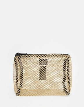 ASOS Metallic Mesh Make Up Bag
