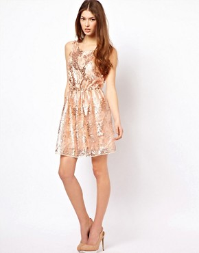 Image 4 ofPearl Sequin Skater Dress