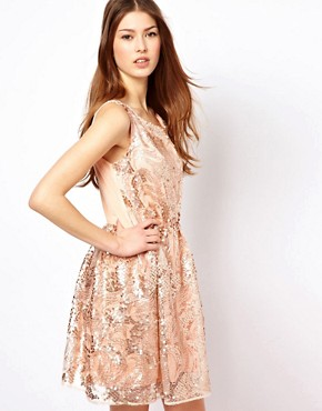 Image 1 ofPearl Sequin Skater Dress