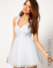 ASOS PETITE Exclusive Floral Applique Tutu Dress