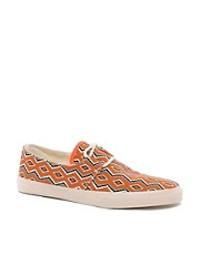 YMC Canvas Printed Plimsolls