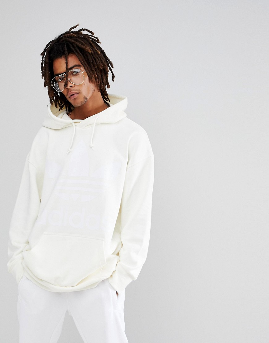 adidas Originals Boxy Hoodie In White BQ2075 - White