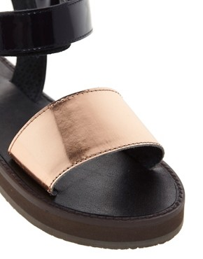 Image 2 ofASOS FIREFLY Leather Flat Sandals