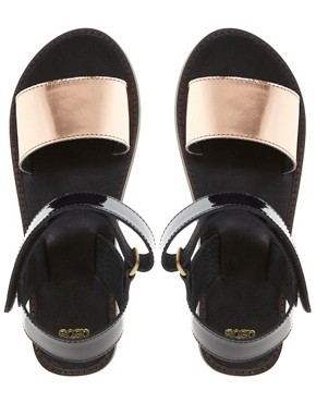 Image 4 ofASOS FIREFLY Leather Flat Sandals