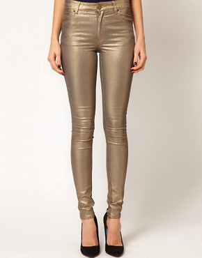 Image 1 ofWarehouse Metallic Skinny Jean