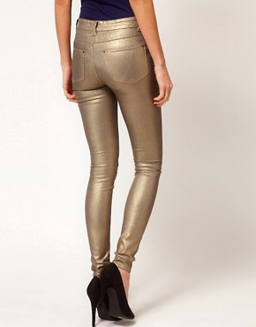 Image 2 ofWarehouse Metallic Skinny Jean