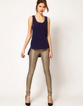 Image 4 ofWarehouse Metallic Skinny Jean