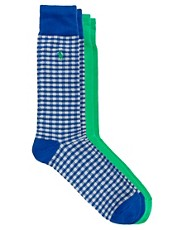 Polo Ralph Lauren 2 Pack Gingham Socks
