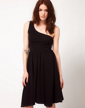 Image 1 ofAmerican Apparel Baby Rib One Shoulder Dress