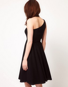 Image 2 ofAmerican Apparel Baby Rib One Shoulder Dress