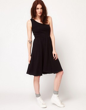 Image 4 ofAmerican Apparel Baby Rib One Shoulder Dress
