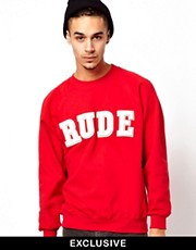 Reclaimed Vintage Sweat with RUDE Embroidery