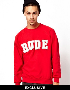 Image 1 ofReclaimed Vintage Sweat with RUDE Embroidery