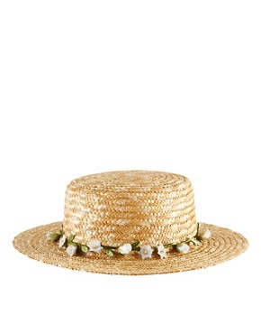 Image 4 ofASOS Straw Boater With Removable Garland Headband