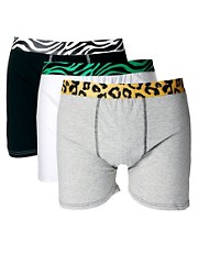 River Island 3 Pack Animal Tipped Trunks