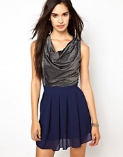 Wal G Dress With Metallic Top