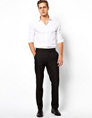 ASOS Slim Fit Tuxedo Suit Trousers in Black