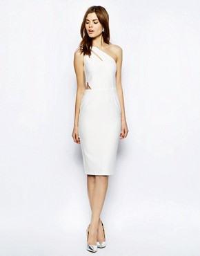 ASOS Textured Cut Out Midi Dress
