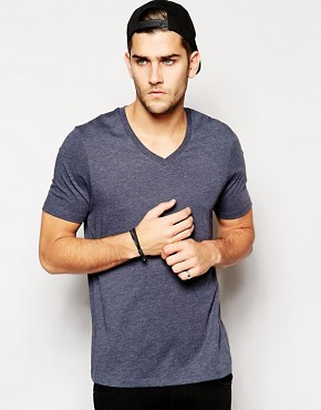 Image 1 ofASOS T-Shirt With V-Neck
