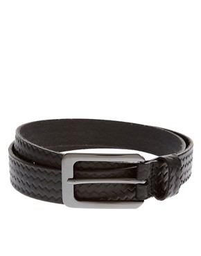 Image 1 ofTed Baker Embossed Plaited Leather Belt